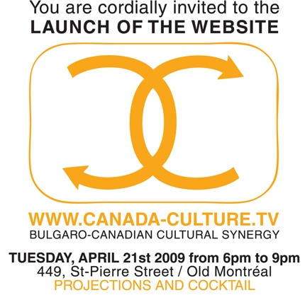 You are cordially invited to the launche of CANADA-CULTURE.TV