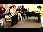 Snapshot of a rehearsal with the Varna Chamber Choir, Vancouver 2009